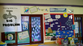 Our display showing children